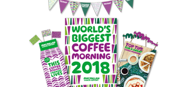 Image of a World's Biggest Coffee Morning Kit with bunting