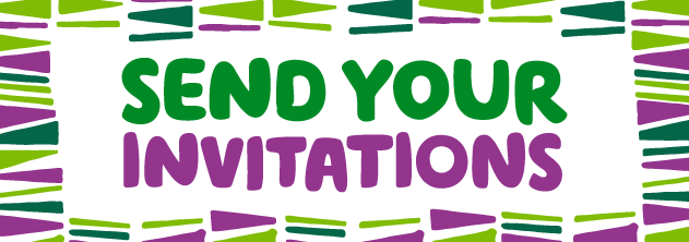 Send your invitations text image