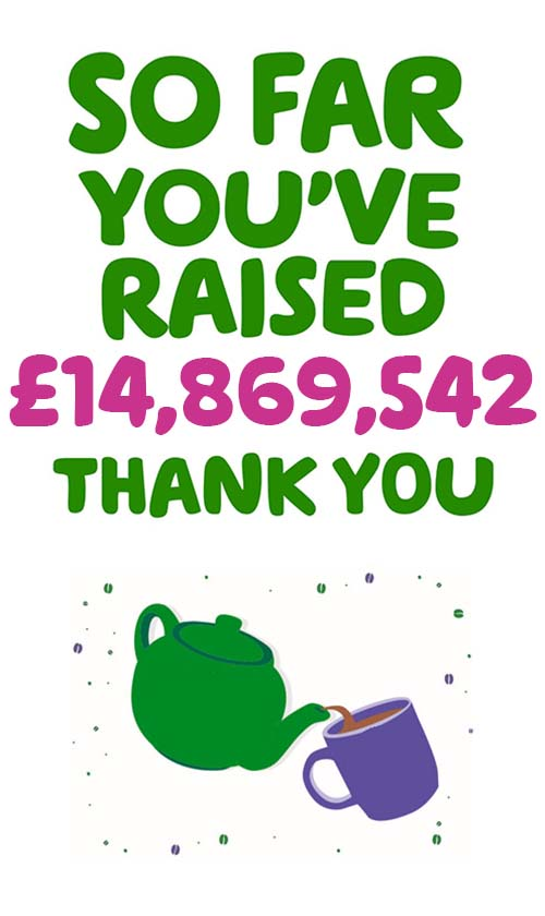 So far you've raised £14,869,542. Thank you.
