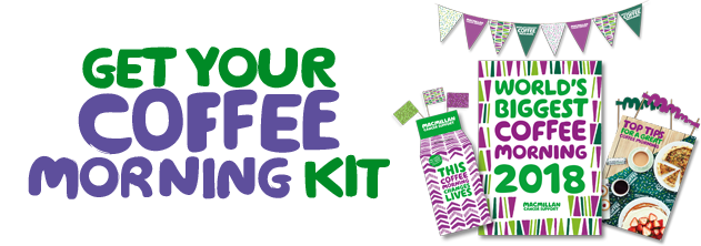 Get your World's Biggest Coffee Morning 2018 kit logo