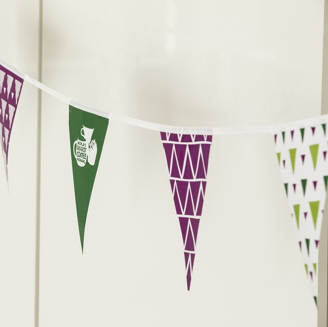 Macmillan Coffee Morning paper bunting