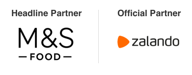 Headline partner is M&S Food and Official Partner is Zalando