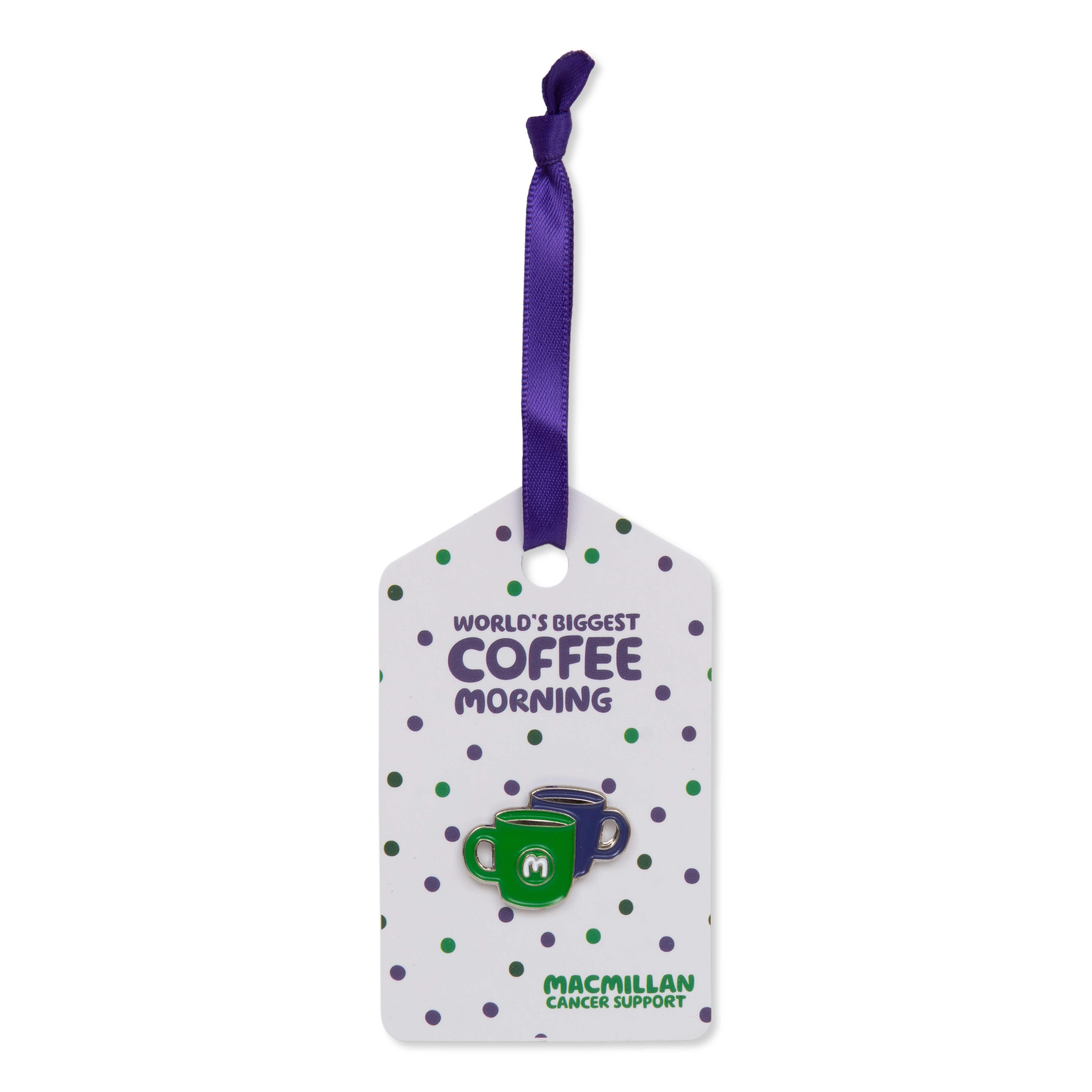Coffee Morning Mug Pin Badge