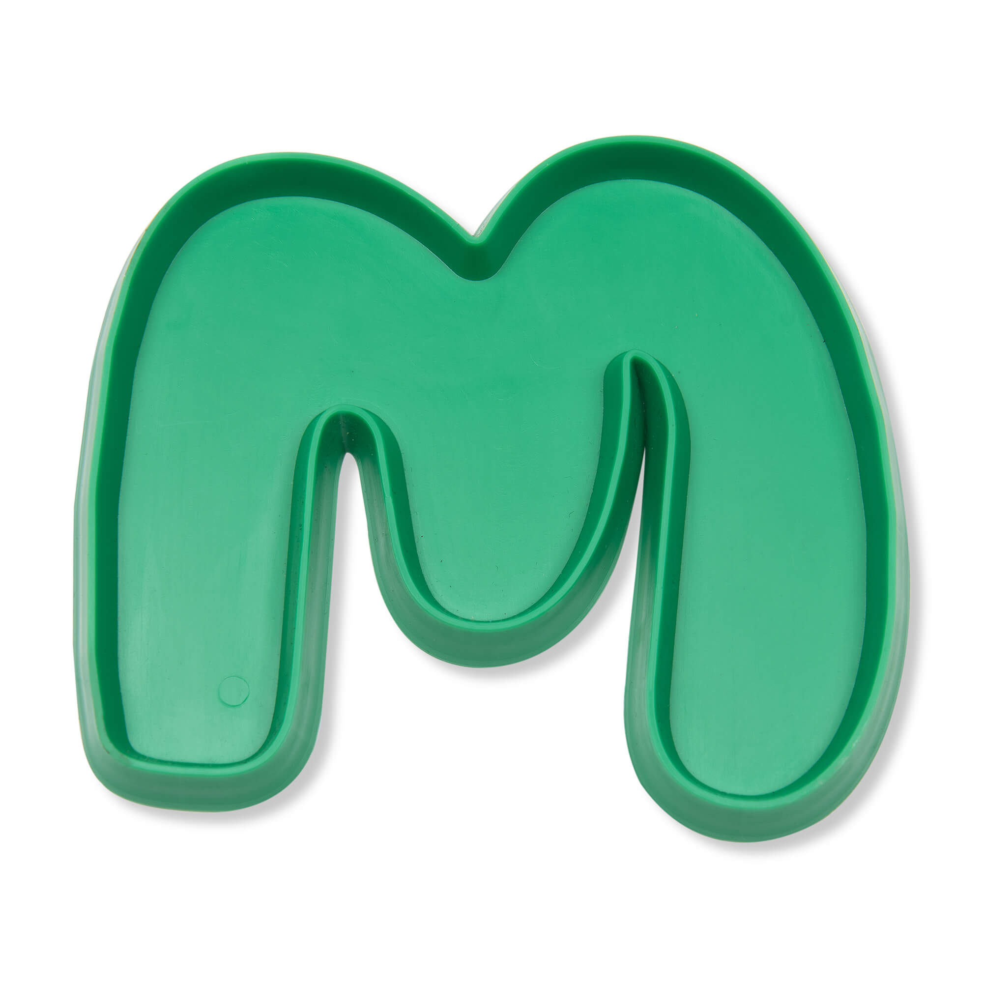 Coffee Morning biscuit cutter in the shape of the Macmillan font 'M'