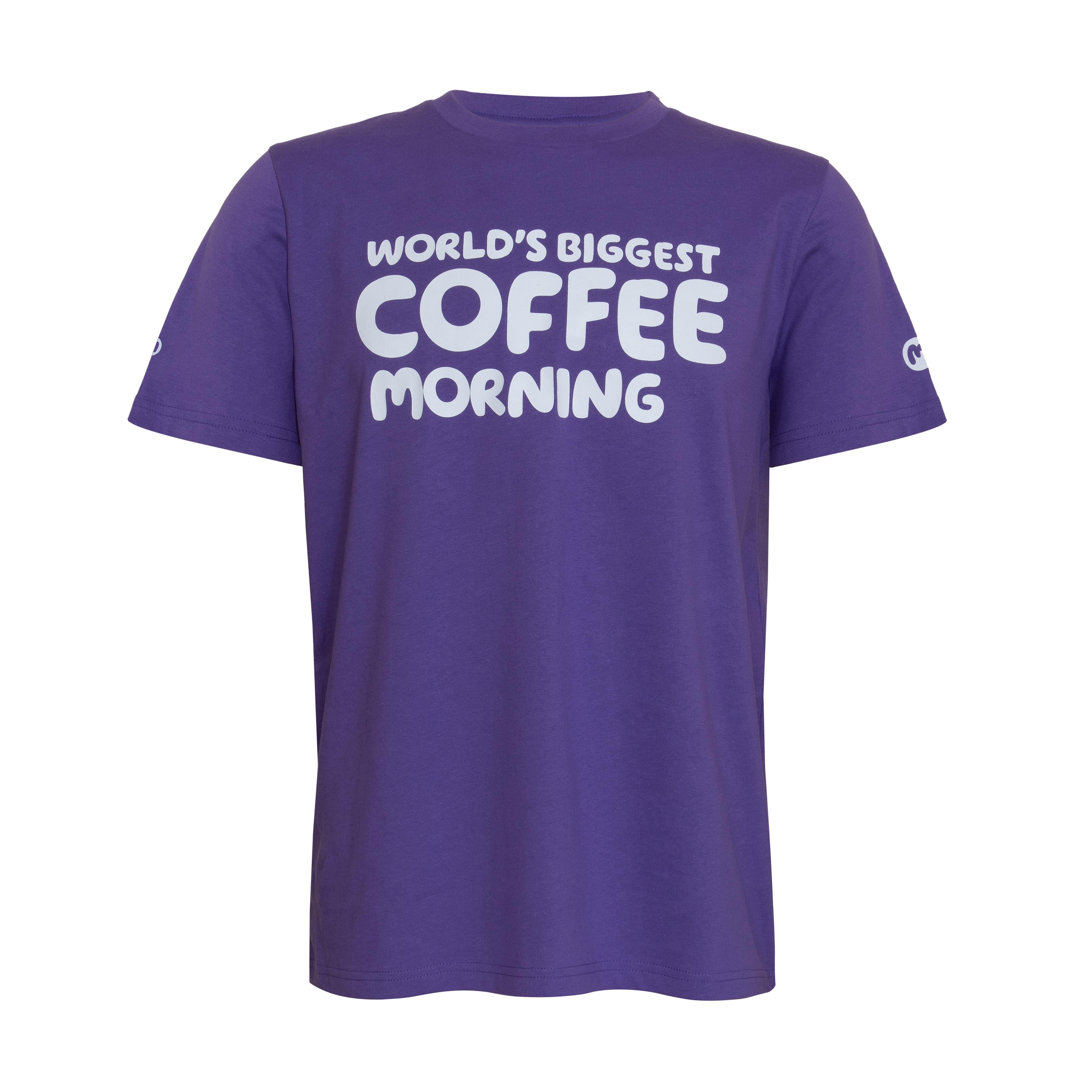 Purple Coffee Morning t-shirt