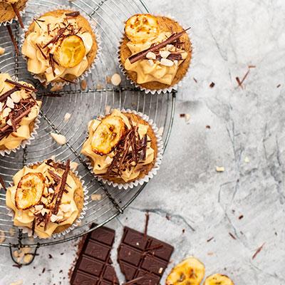 Vegan Banana and peanut butter cupcakes