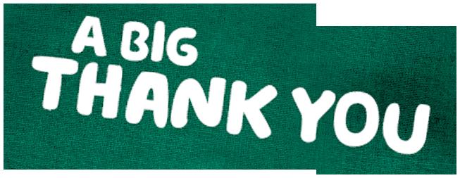 Heading: A big thank you